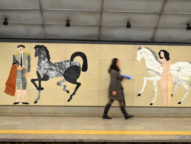 Metro art: Marble pictures