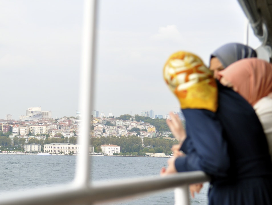 An Afternoon Picnic Afloat on the Bosporus Istanbul  Turkey