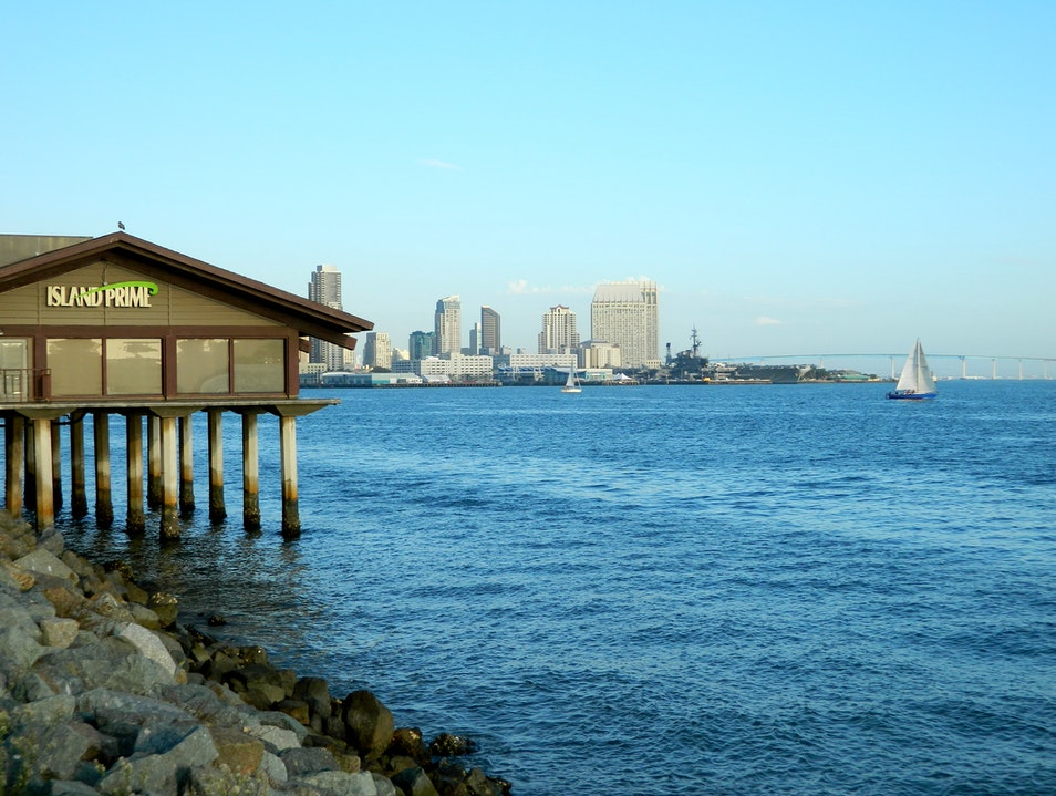 Fine dining with an excellent view of San Diego bay San Diego California United States