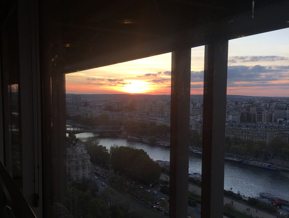 Sunset Dinner in the Eiffel Tower Paris  France
