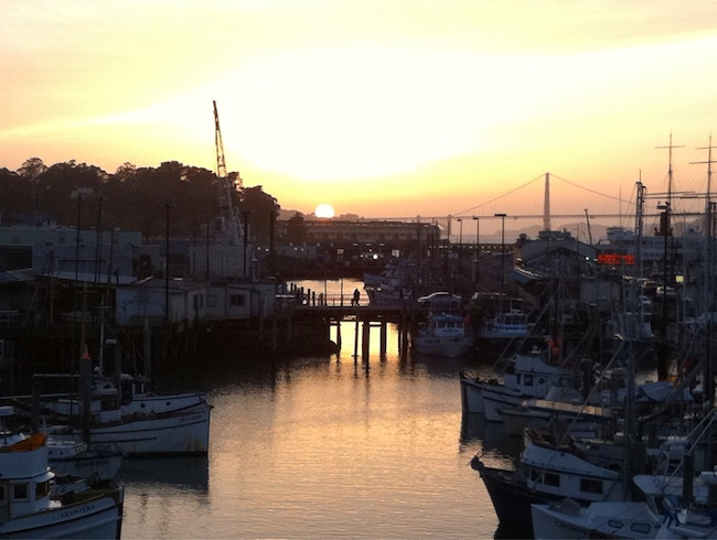 Sunset Over The Marina At Fisherman's Wharf
