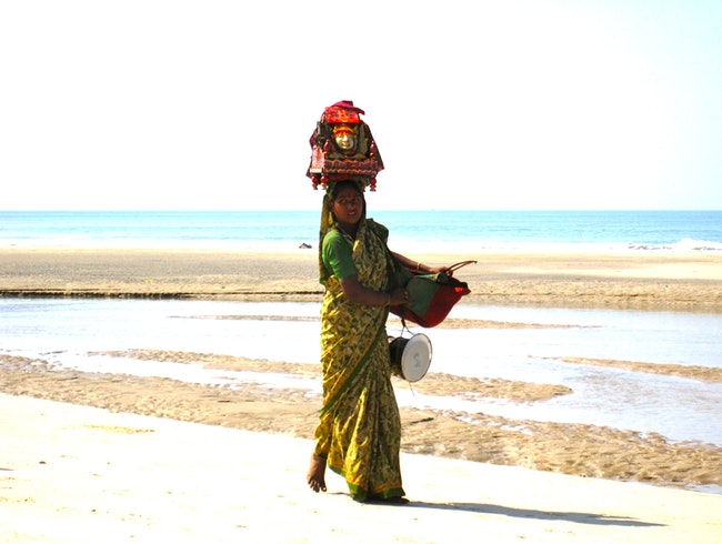 Local Beach Vendor in Goa