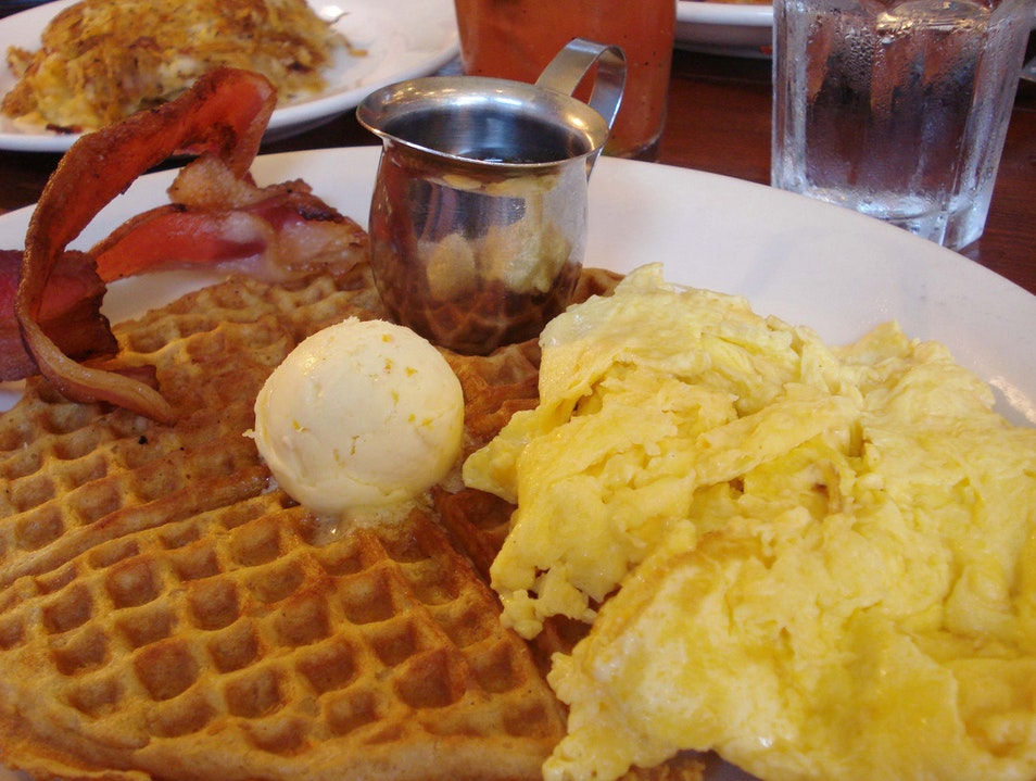 Gorgeous Gingerbread Waffles Seattle Washington United States