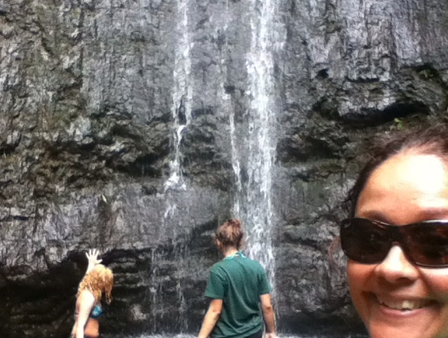 Cousins At Manoa Falls