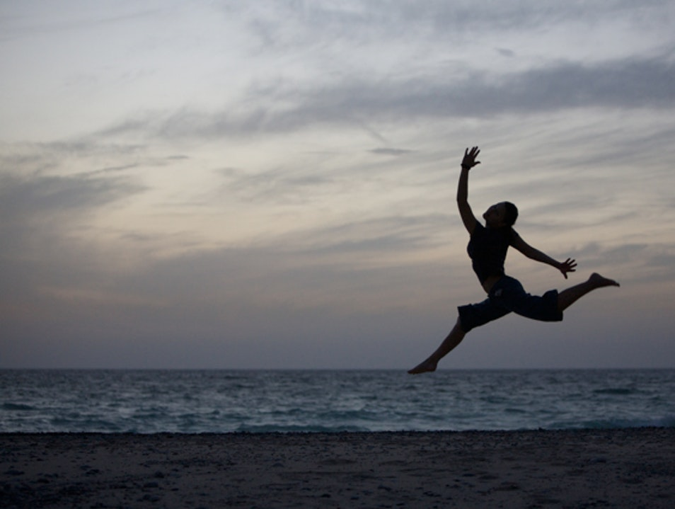 Jumping for Joy in Oman Seeb  Oman