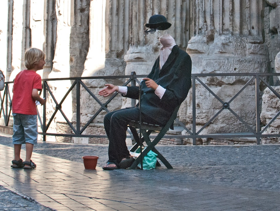 The Invisible Man; Sighted Rome  Italy