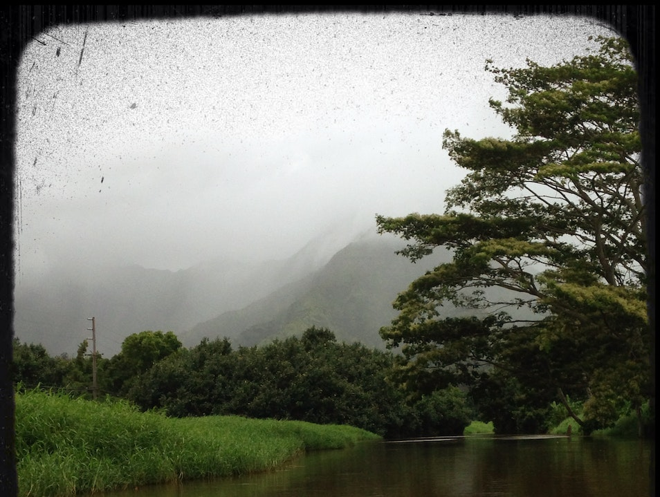 Kayaking the Hanalei River Kapaa Hawaii United States