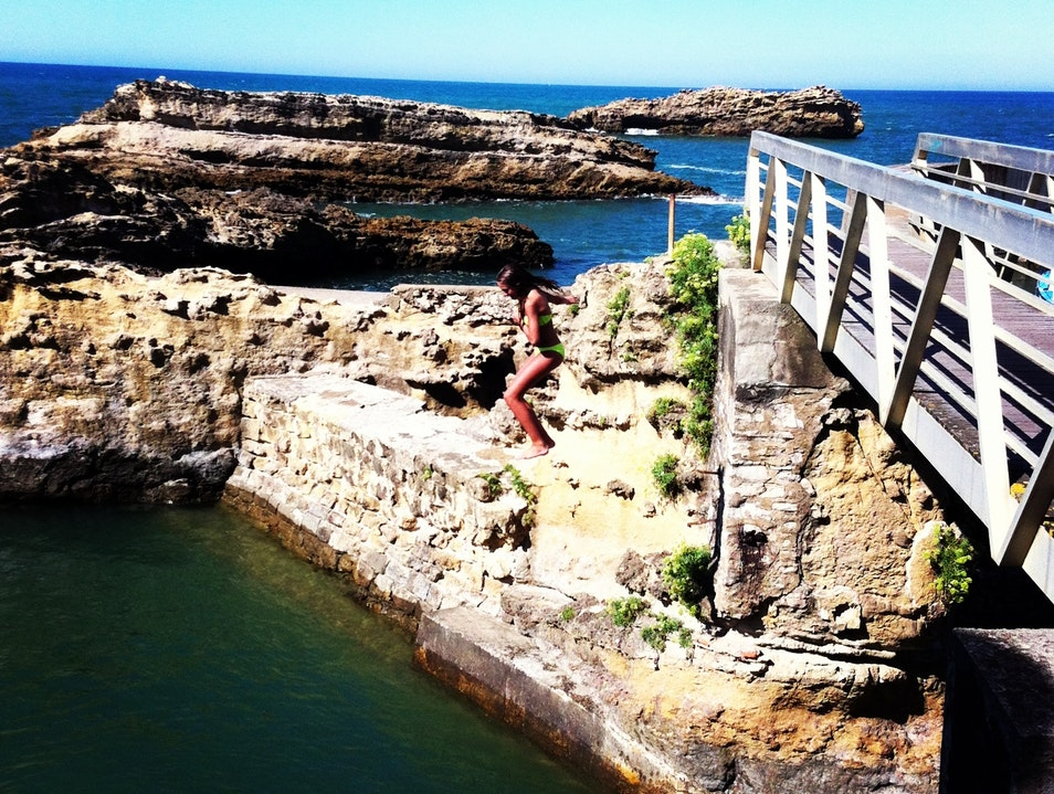 Jumping Off  Biarritz  France