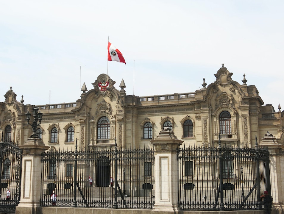 European luxury in the Government Palace Lima  Peru