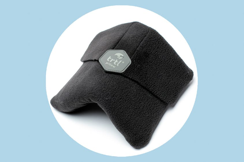 The Trtl Travel Pillow comes in seven colors, including the original gray seen here.
