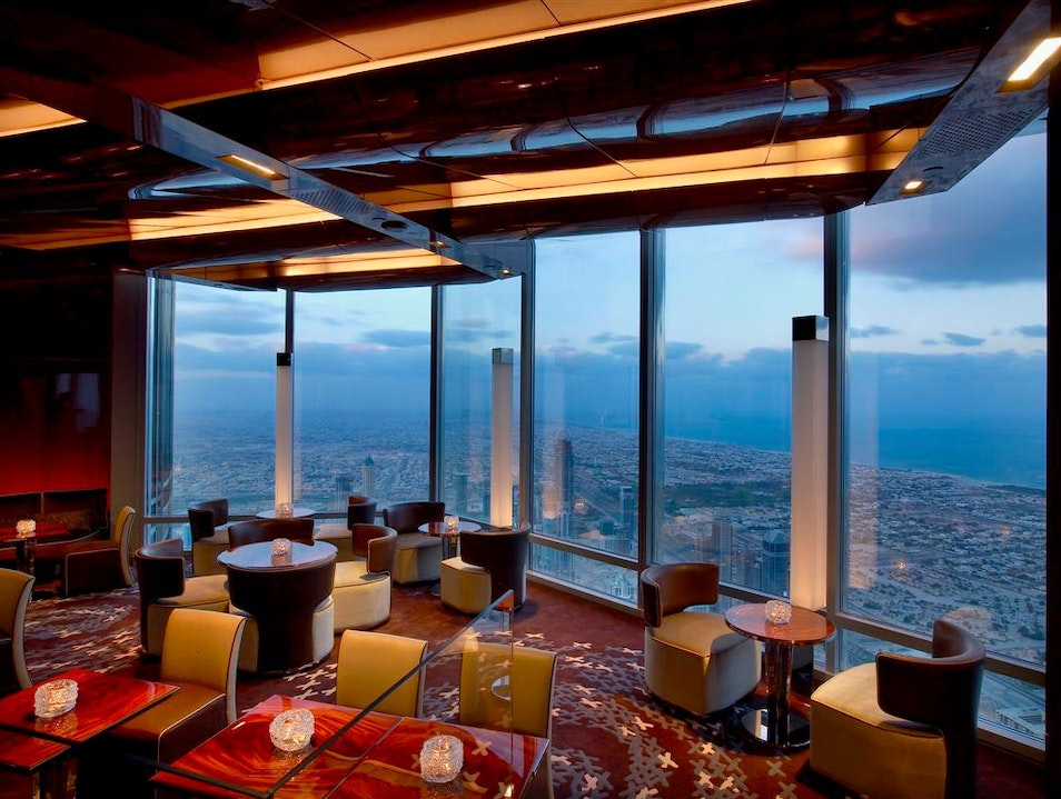 Fine Dining High Up in the Air in the Burj Khalifa Dubai  United Arab Emirates