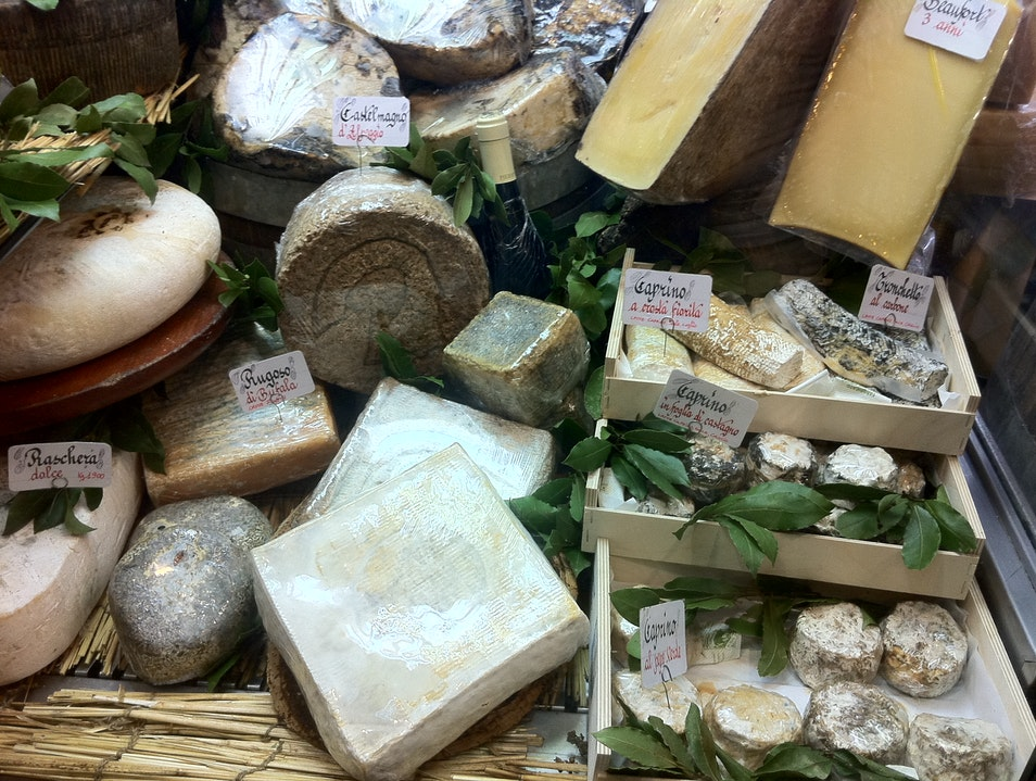 The city's best cheese shop Rome  Italy