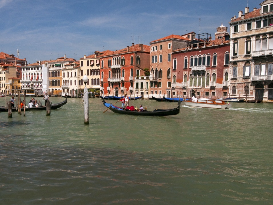 Buildings of the Grand Canal Venice  Italy