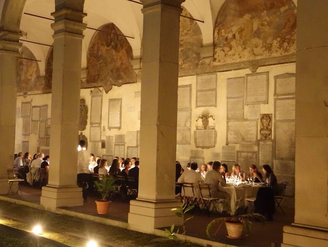 Dinner in Florence's historic cloisters