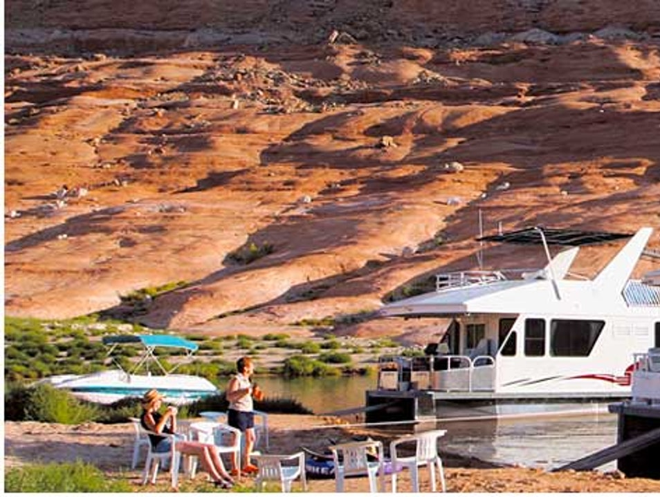 Minding the House on Lake Powell Page Arizona United States