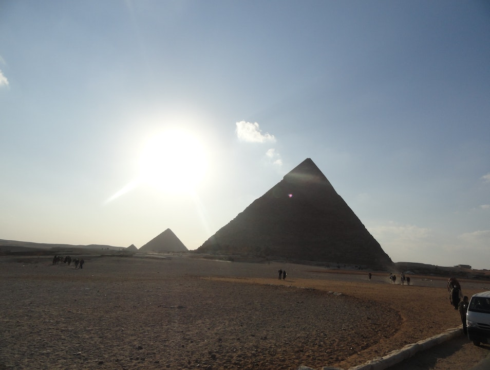 Great Pyramids Cairo  Egypt
