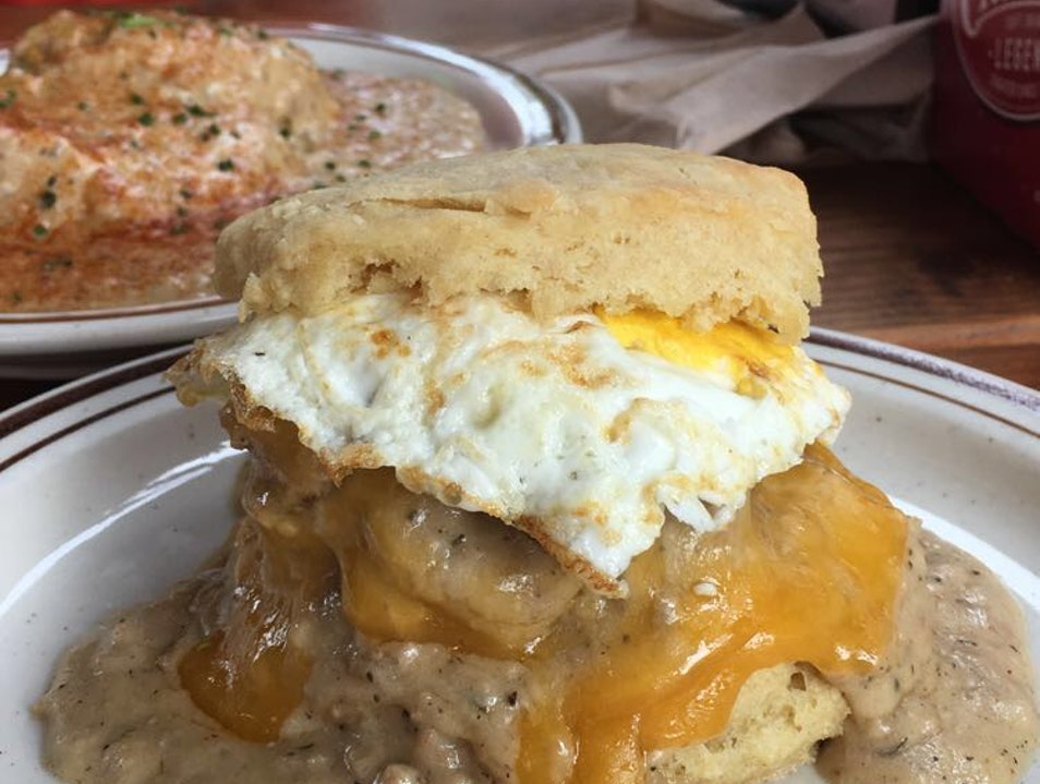 Brunch at Pine State Biscuits in the Alberta Arts District of Portland, Oregon