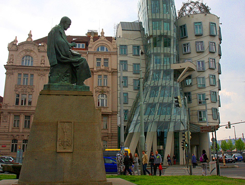 Stumbling on a graceful building Prague  Czechia