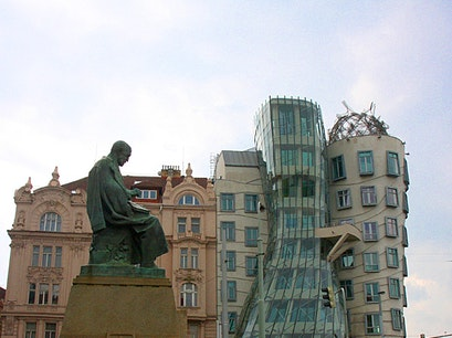 'Fred and Ginger' building Prague  Czech Republic