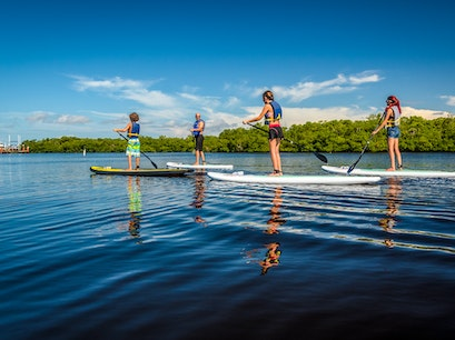 Stand-up Paddleboarding Fort Myers Beach Florida United States