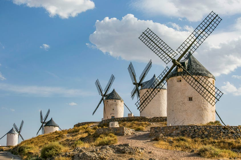 """One of the most famous scenes of """"Don Quixote"""" revolves around the windmills near Toledo."""