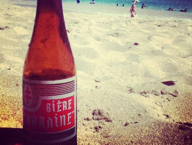 Sea, sun and local beer