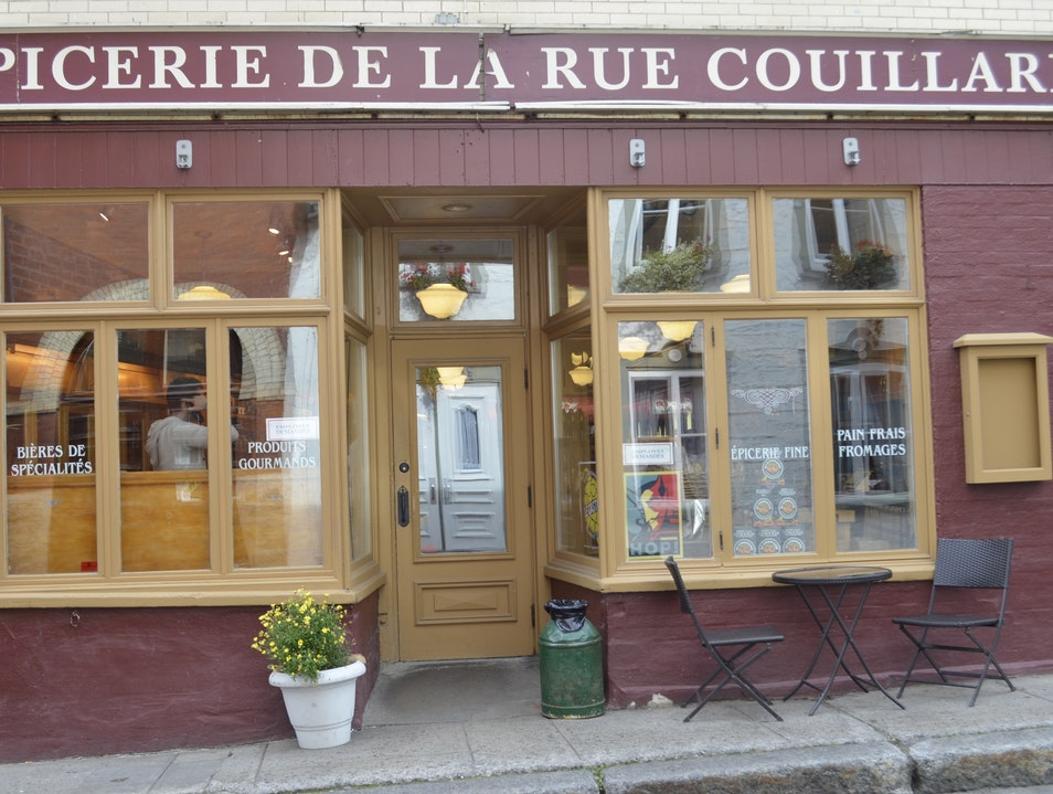 Local grocery off the main old city streets Quebec City  Canada