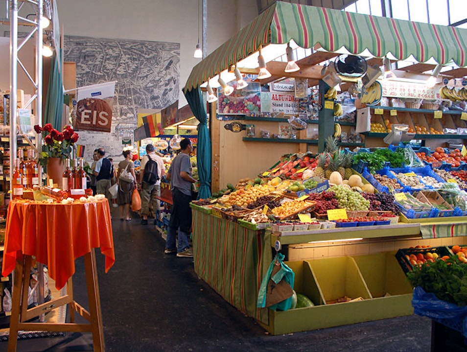 Culinary Shopping at Kleinmarkthalle Frankfurt  Germany