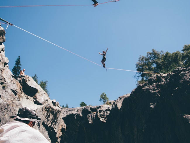 Cliff Jumping into the Yuba River