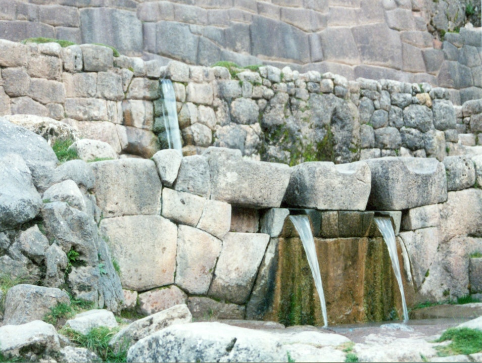 Fountain at Tambomachay Cusco  Peru