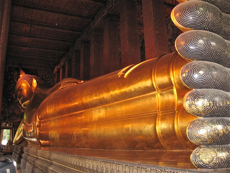 The Reclining Buddha of Wat Pho Bangkok  Thailand