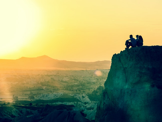 Sunset over Fairy Chimneys in Turkey