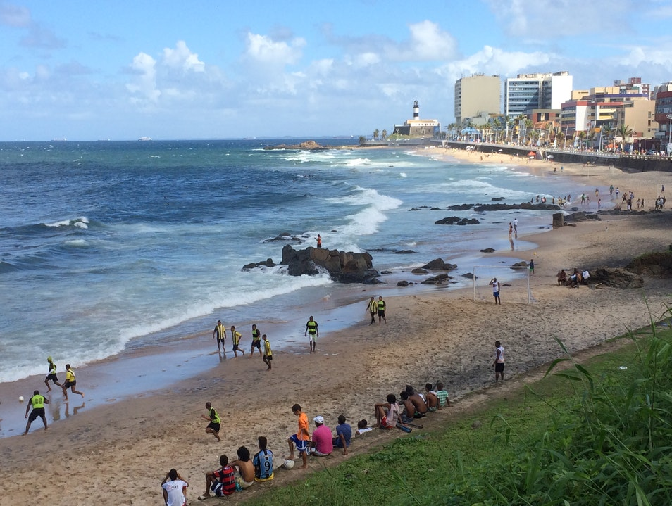 Soccer and Surfing in Salvador   Earth