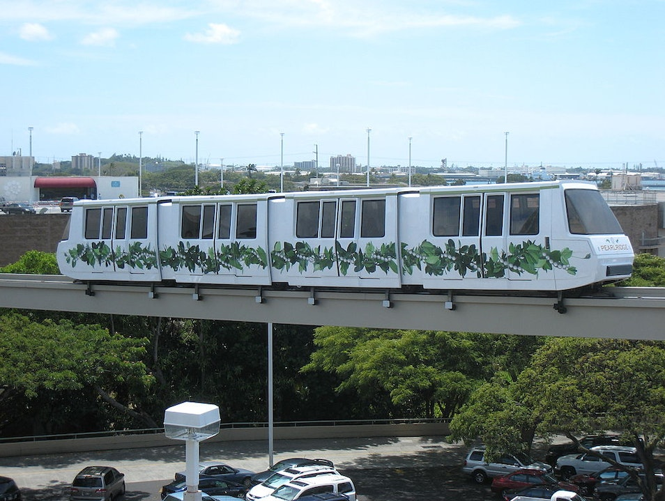 The Only Monorail on Oahu Aiea Hawaii United States