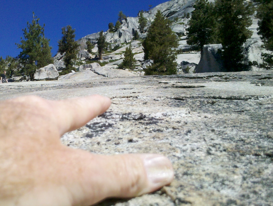 Slipping from the top of the world Yosemite National Park California United States