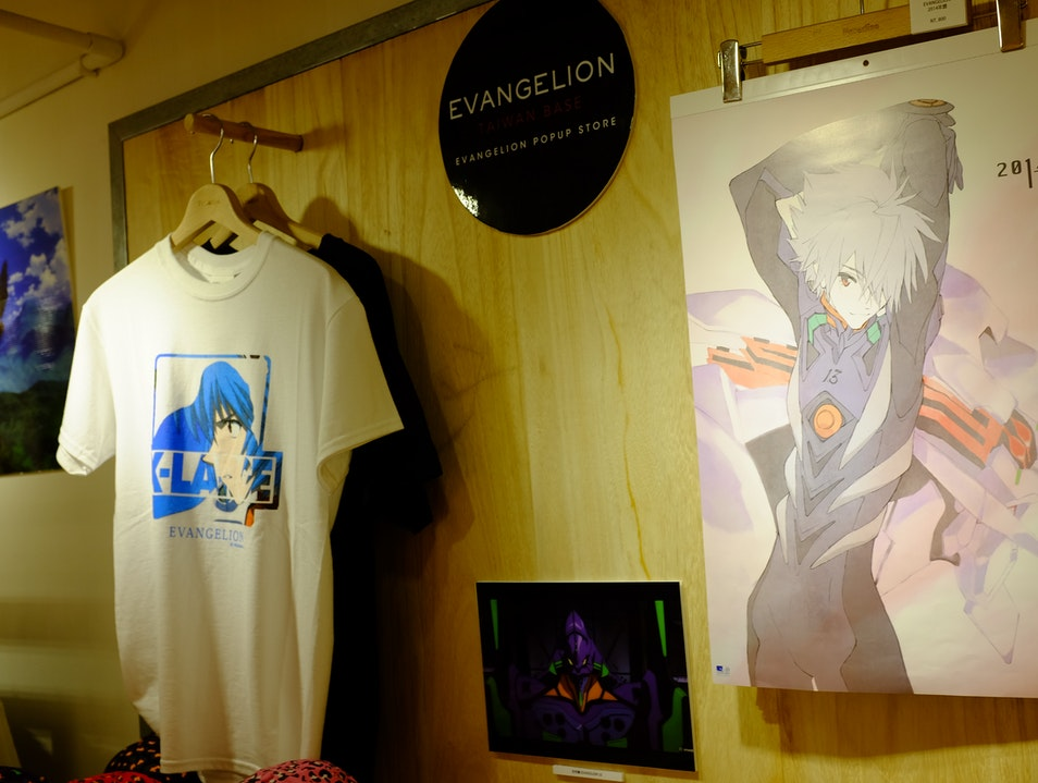 Evangelion-themed shop in downtown Taipei