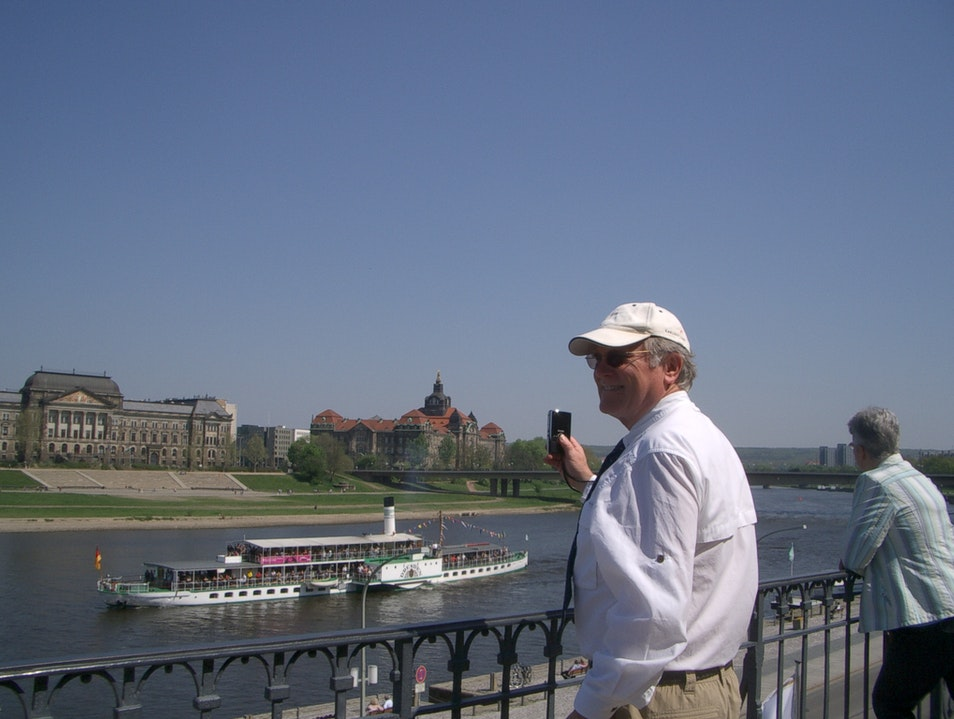 The Elbe River in Dresden, Germany Dresden  Germany