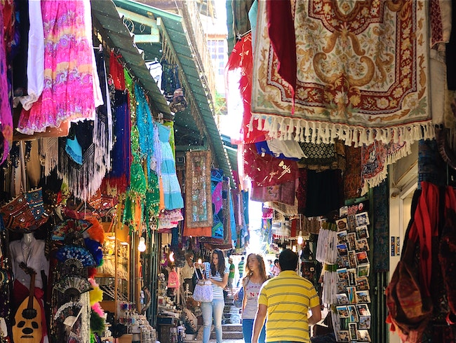 The Souk in Jerusalum, Israel