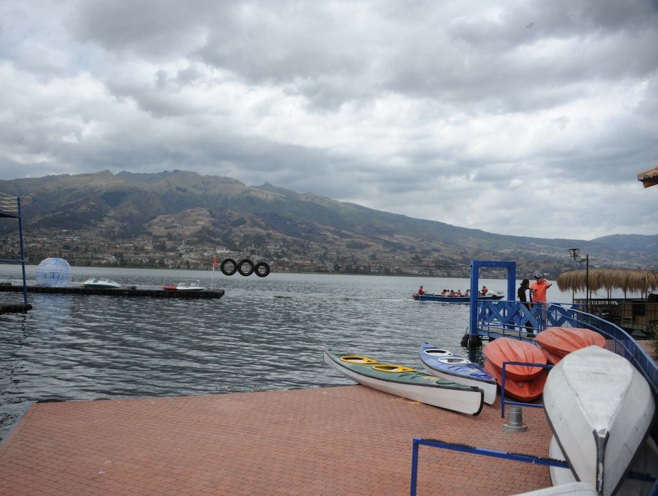 Test the Water on San Pablo Lake Imbabura  Ecuador