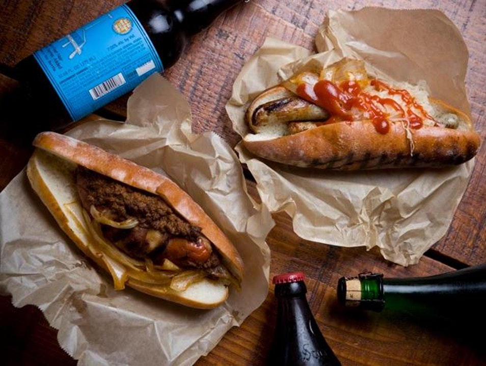 Head to Rosamunde Sausage Grill in San Francisco