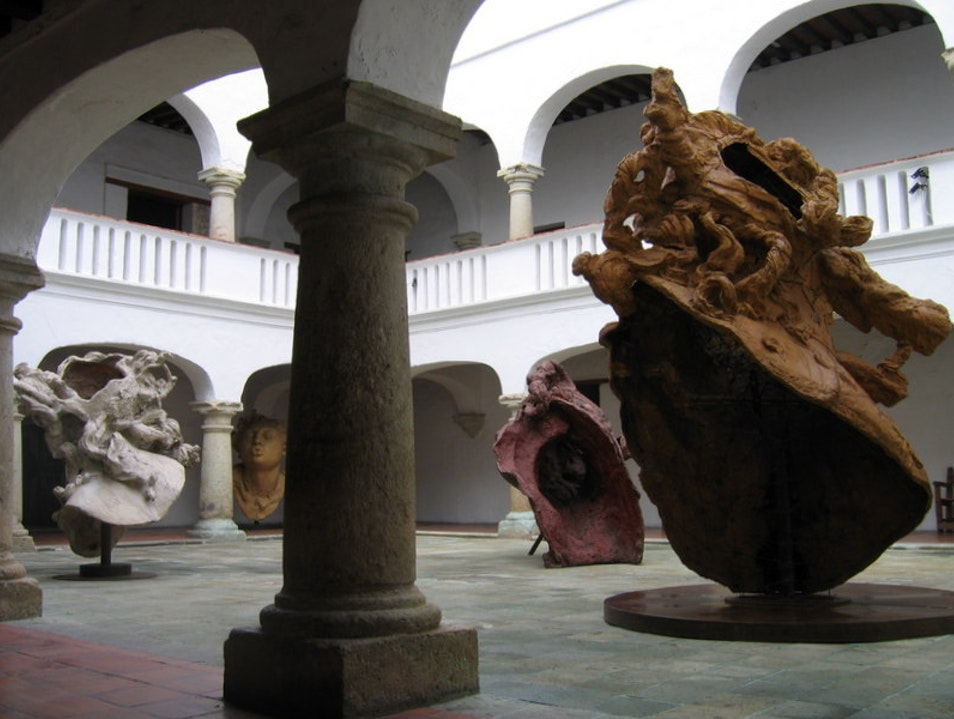 Contemporary Art in a Colonial Mansion Oaxaca  Mexico
