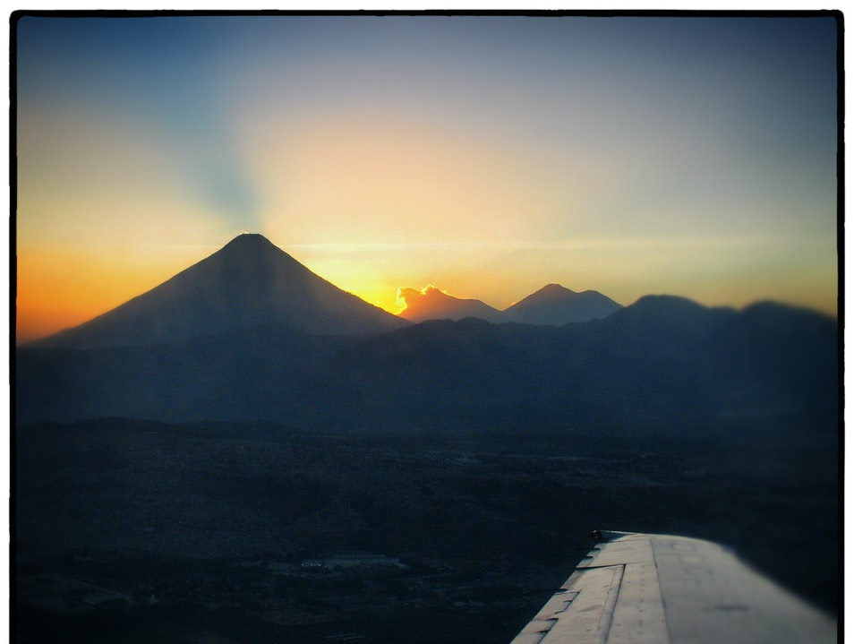 View the Volcanos from the Wing Guatemala City  Guatemala