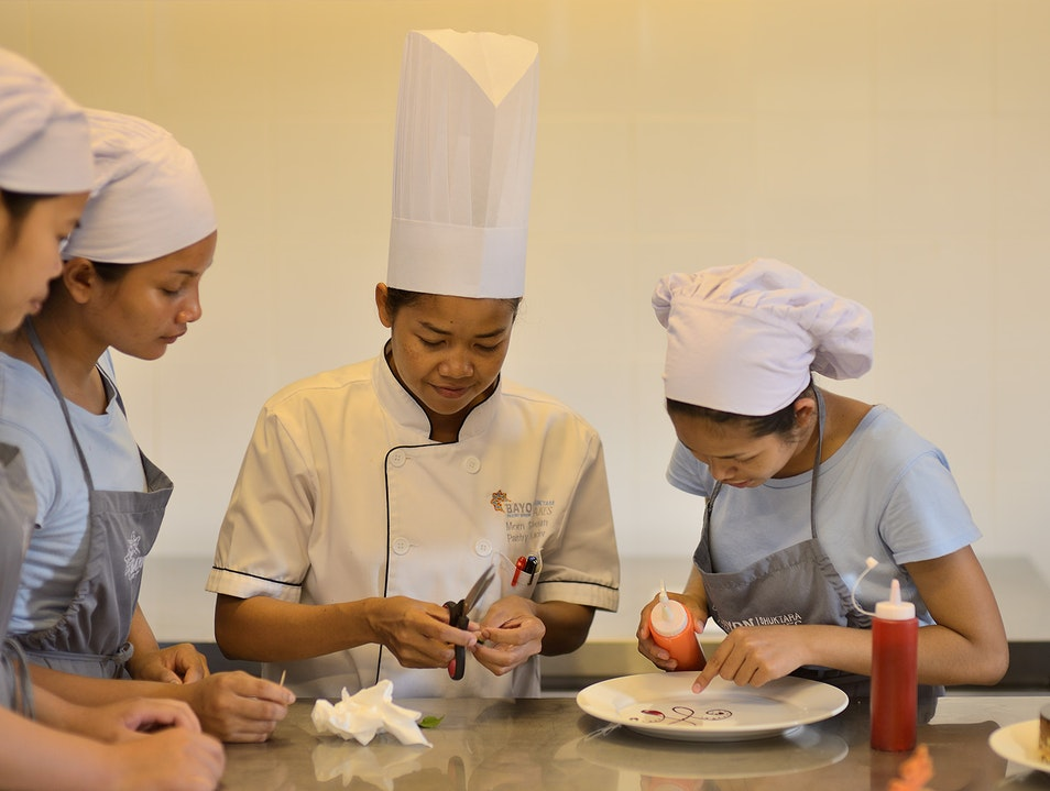 Savor scrummy pastries made by baking students