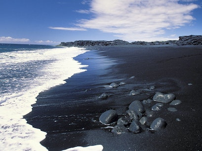 New Kaimu Black Sand Beach Pāhoa Hawaii United States