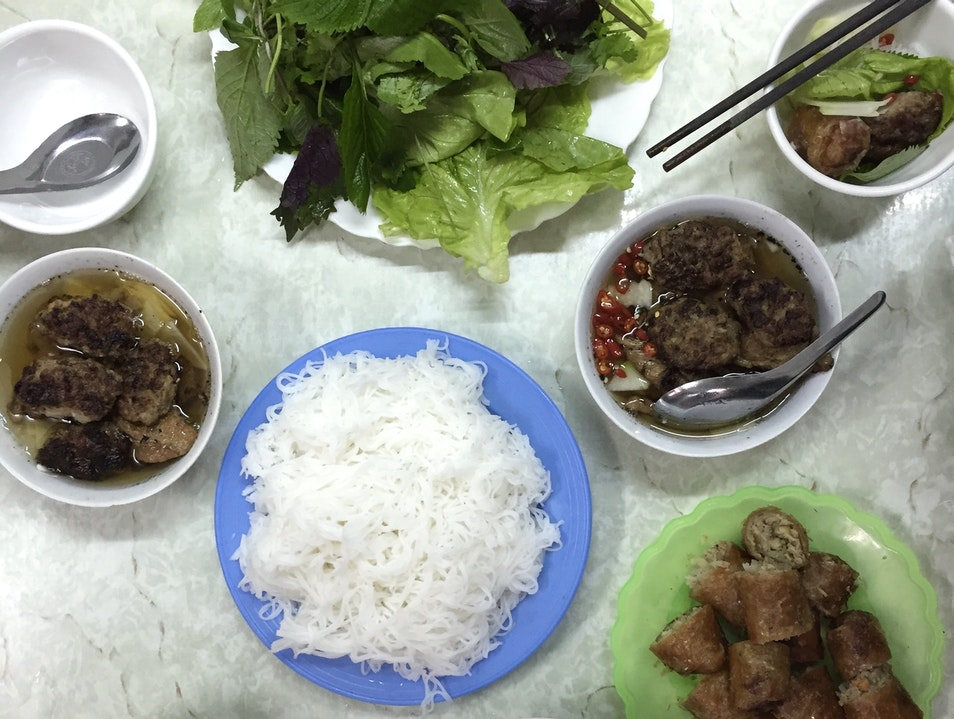 Eat like the locals at Bun Cha Dac Kim Hanoi  Vietnam
