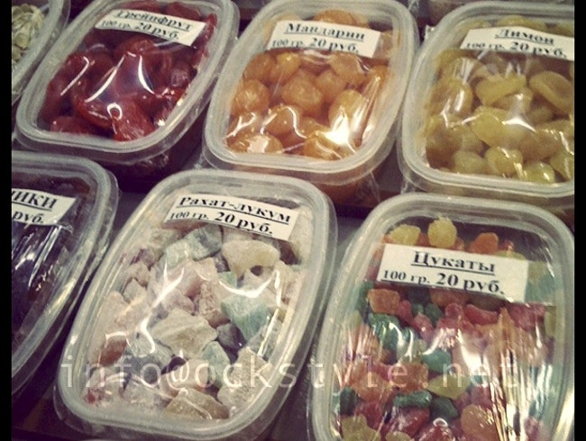 Candies at Noginsk market