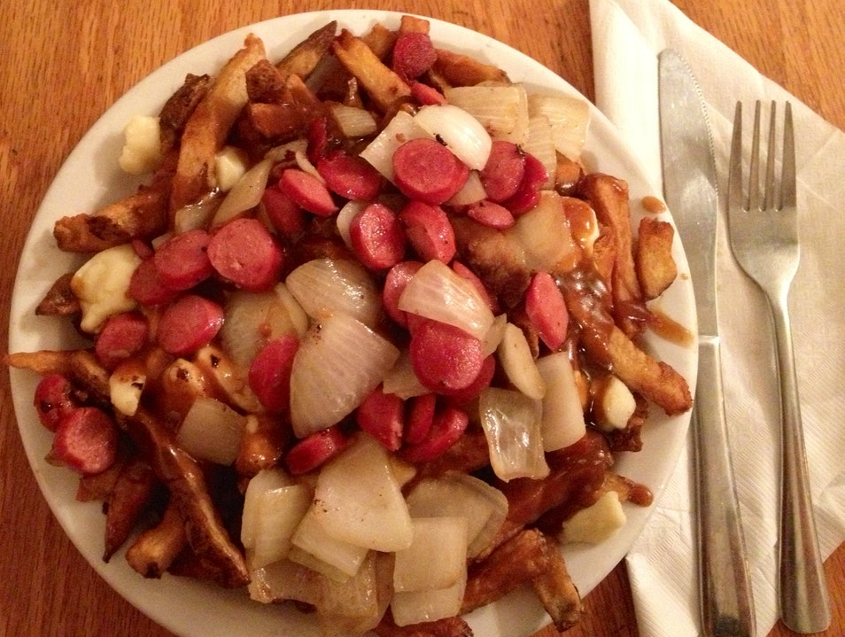 Poutine on Plateau Mont-Royal Montreal  Canada