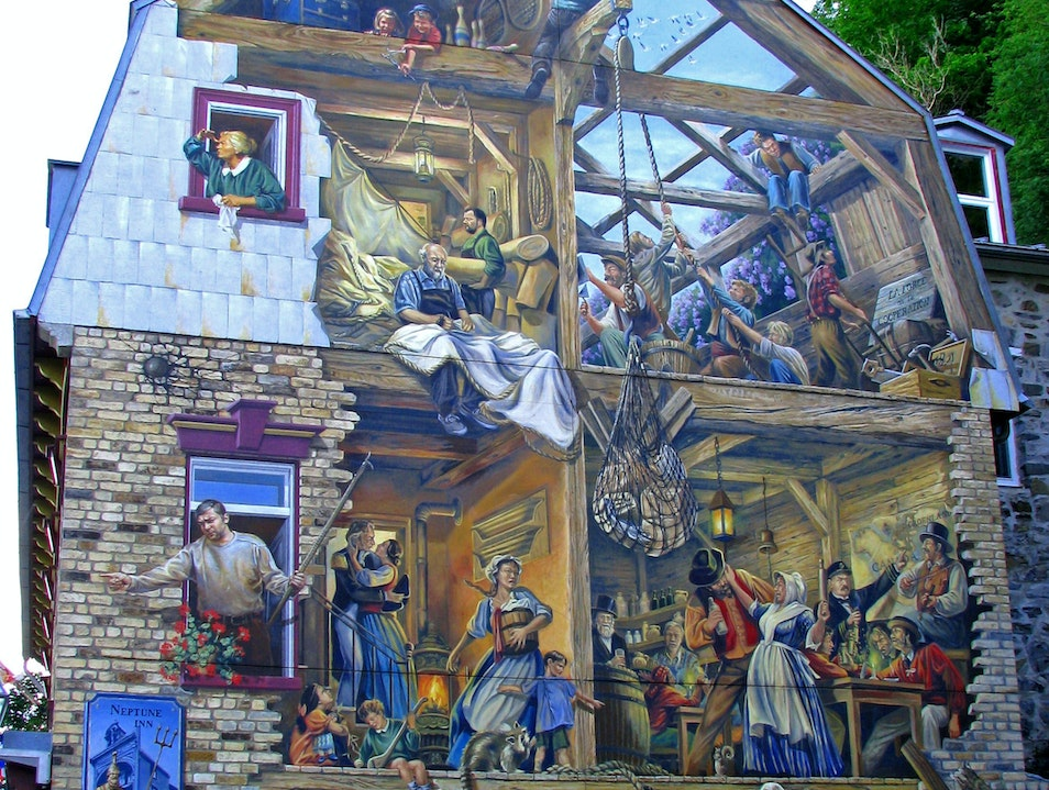 Trompe-l'oeil: Transparency by the St. Lawrence Quebec City  Canada