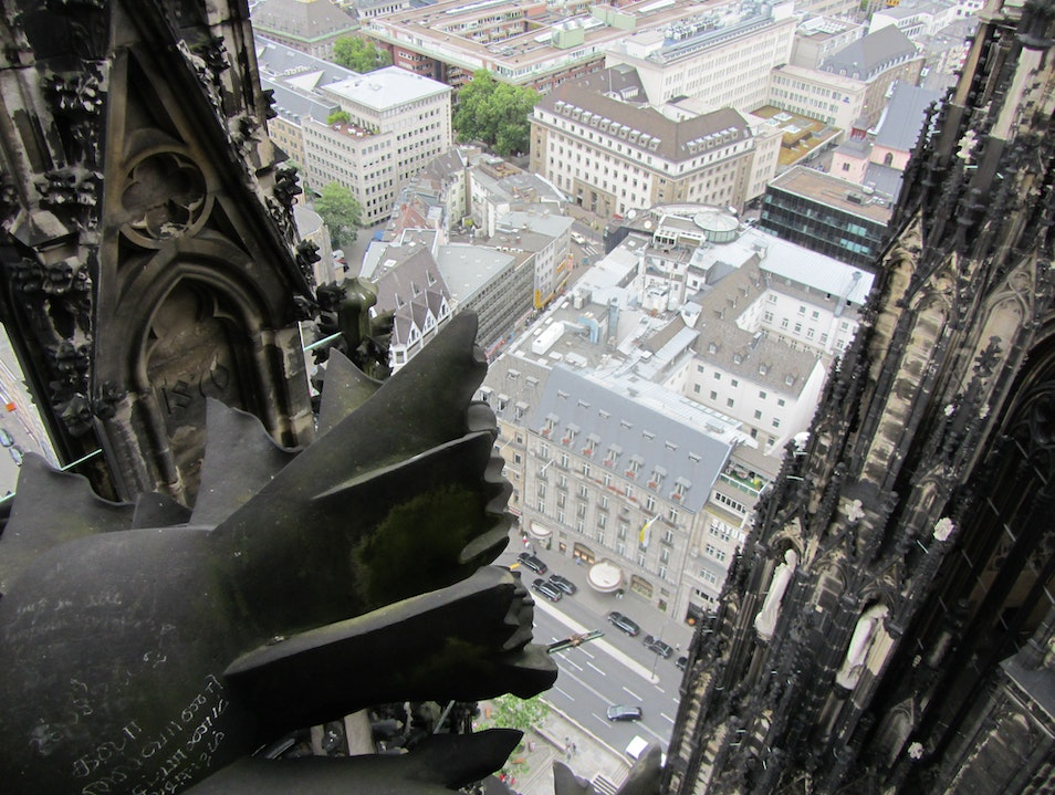 View from the Cathedral Tower Cologne  Germany