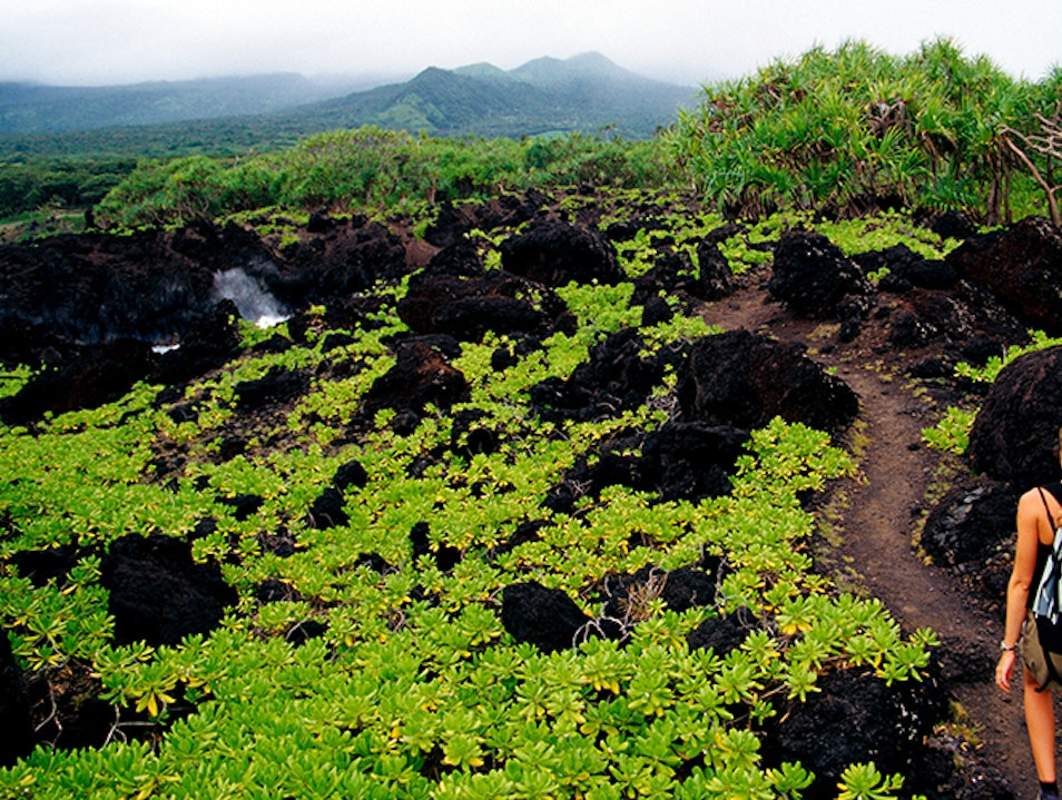 Waiʻānapanapa Coast Trail  Hāna Hawaii United States
